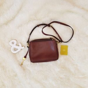 Fossil Henna Brown Leather Campbell Crossbody